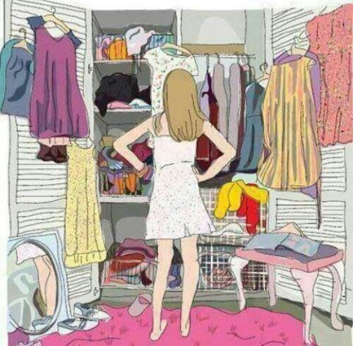 standing in front of closet