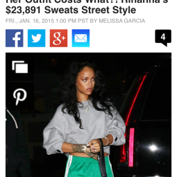 Her Outfit Costs What?! Rihanna's $23,891 Sweats Street Style